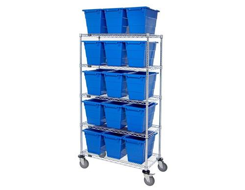 Quantum MWR5-1711-12 Mobile Wire Shelving System