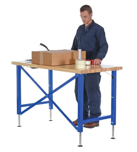 Vestil Manual Adjustable Ergonomic Work Bench