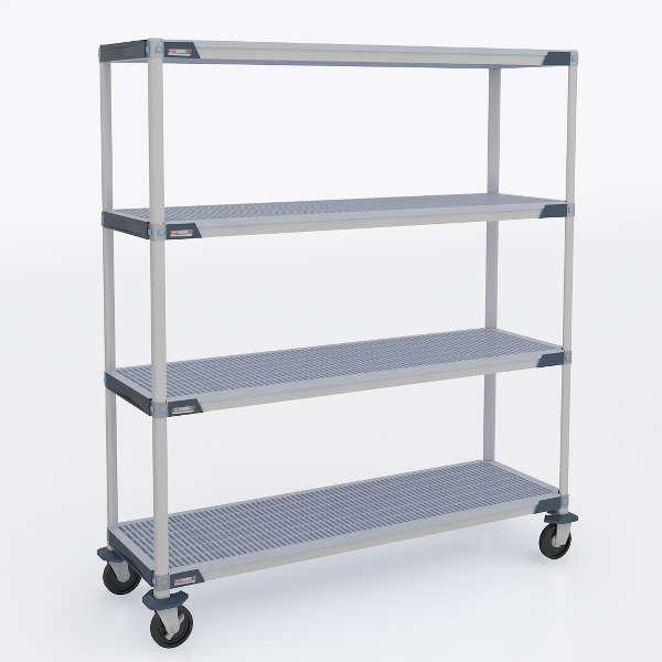 MetroMax i Stem Caster Carts - Open Grid Shelves