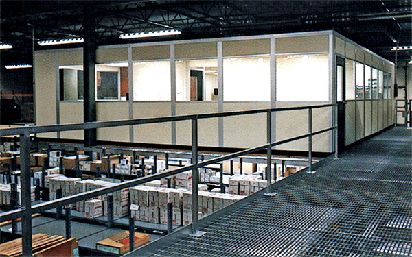 Mezzanine with Upstairs Offices