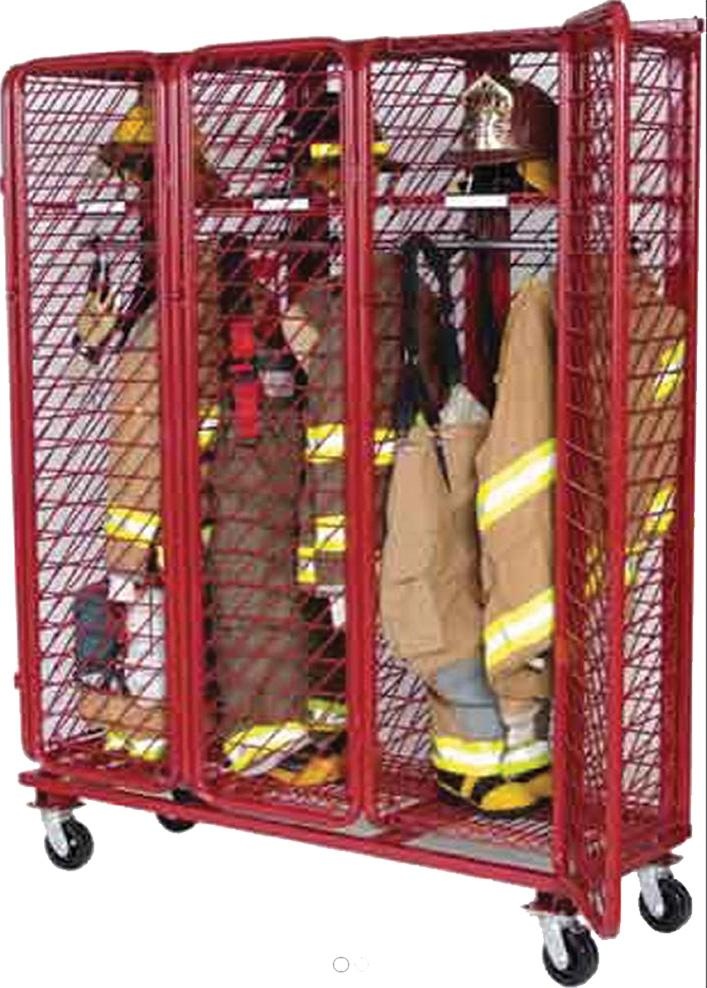 Ready Rack Mobile Red Rack with Security Option