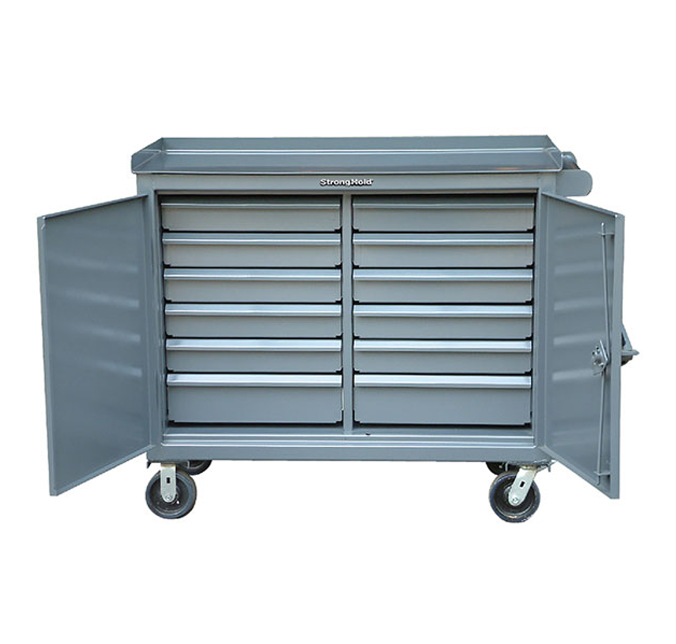 Mobile Mechanics Cart with 12 Drawers