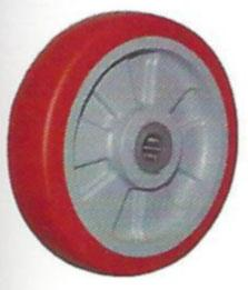 Moldon Polyurethane on Polypropylene Hub Wheels