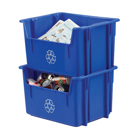 Lewis NPL-252 Stack-N-Nest Recycling Containers A