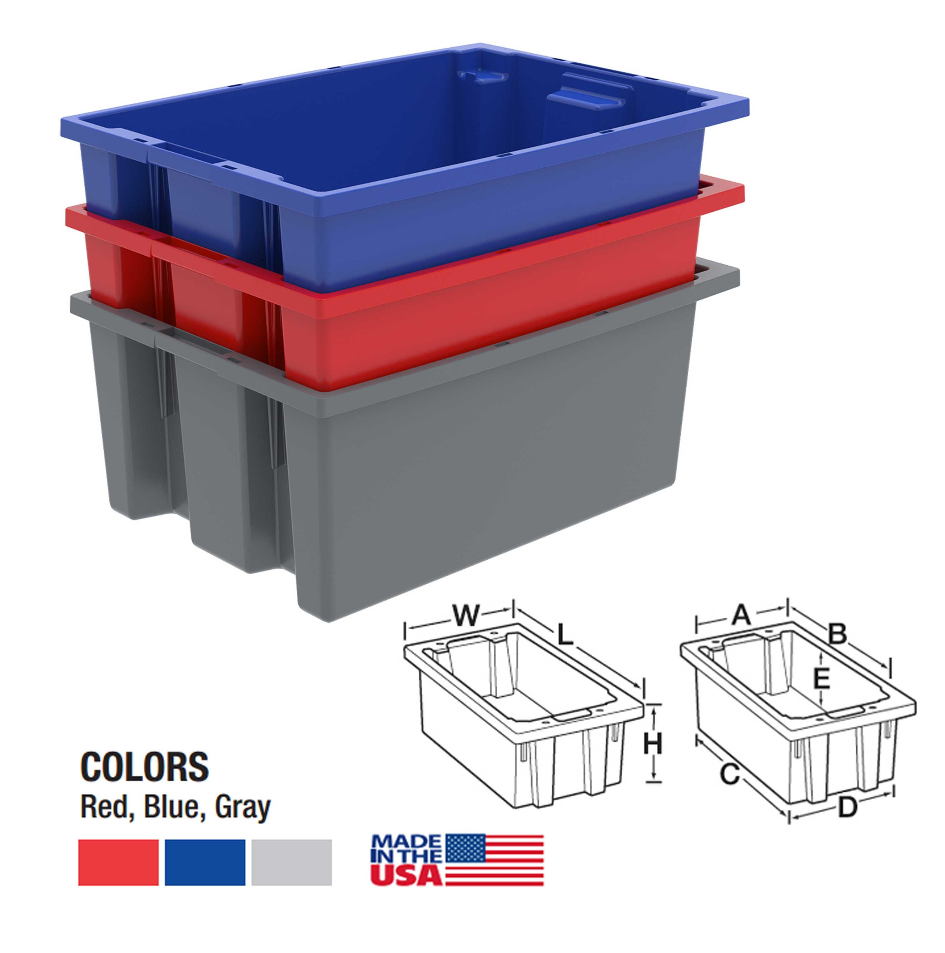 Akro-Mils Nest and Stack Totes