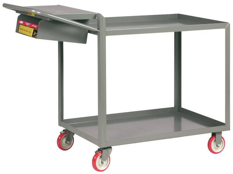 Order Picking Truck with Storage Pocket Model No. LGL-2436-WS-P-BK