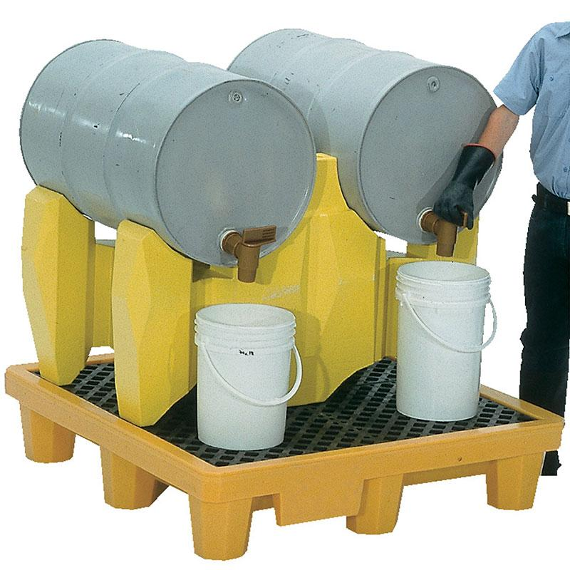 Vestil PDR-2 Polyethylene Drum Racks