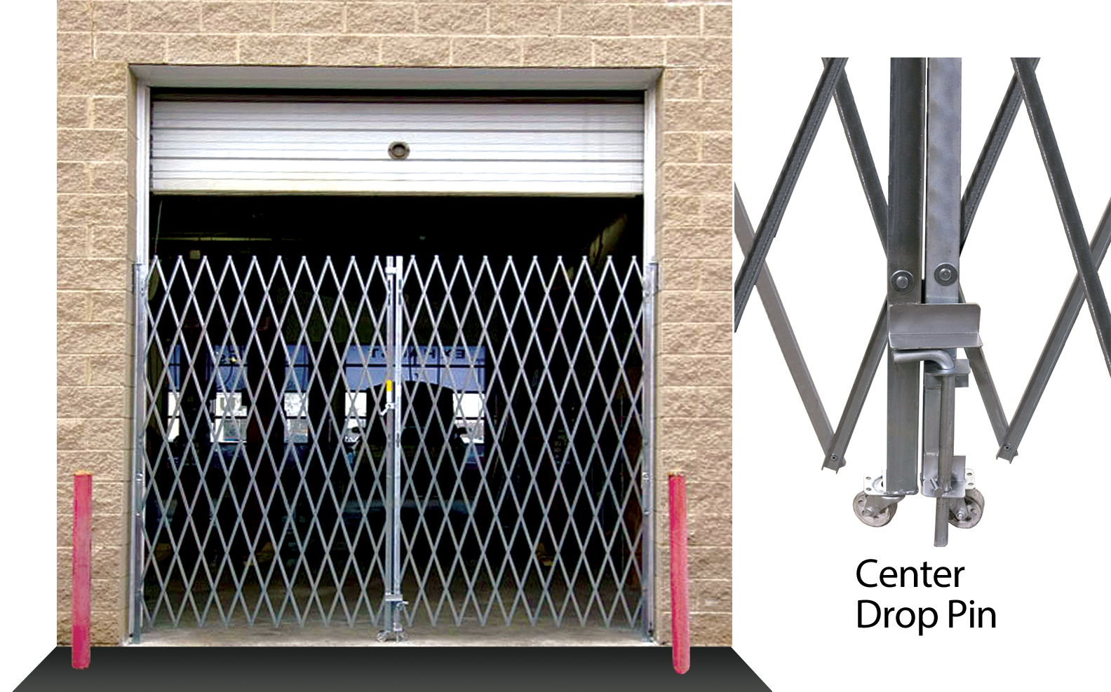 Illinois Engineered PFG Double Folding Gates 16 to 18 Feet Widths