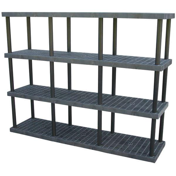 Vestil Plastic Bulk Shelving and Storage Model No. PBSS-9624-4
