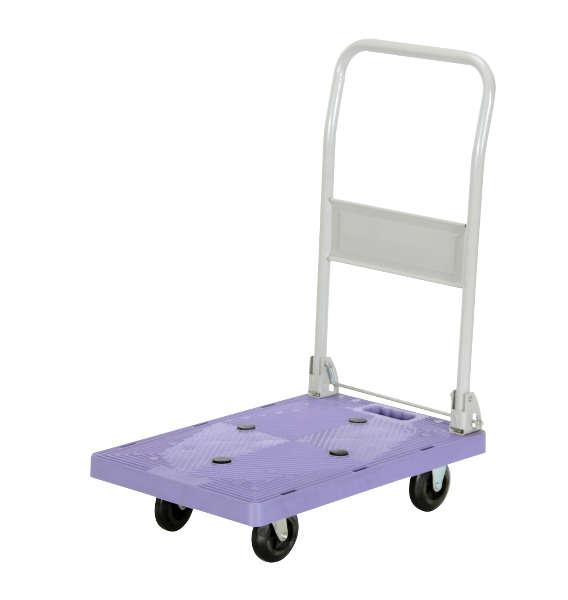 Vestil Plastic Platform Truck with Fold Down Handle Model No. FPT-1624