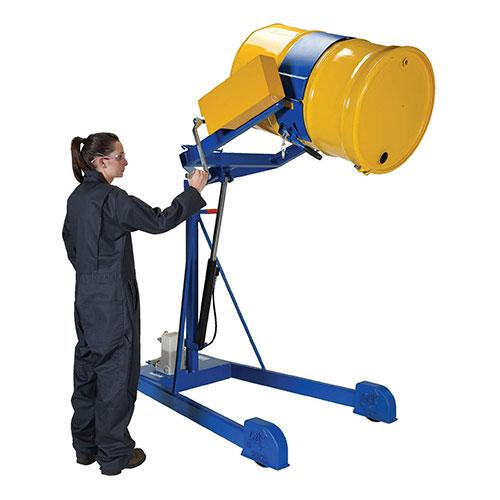 Vestil HDC-305-60 Portable Hydraulic Drum Carrier Rotator Boom