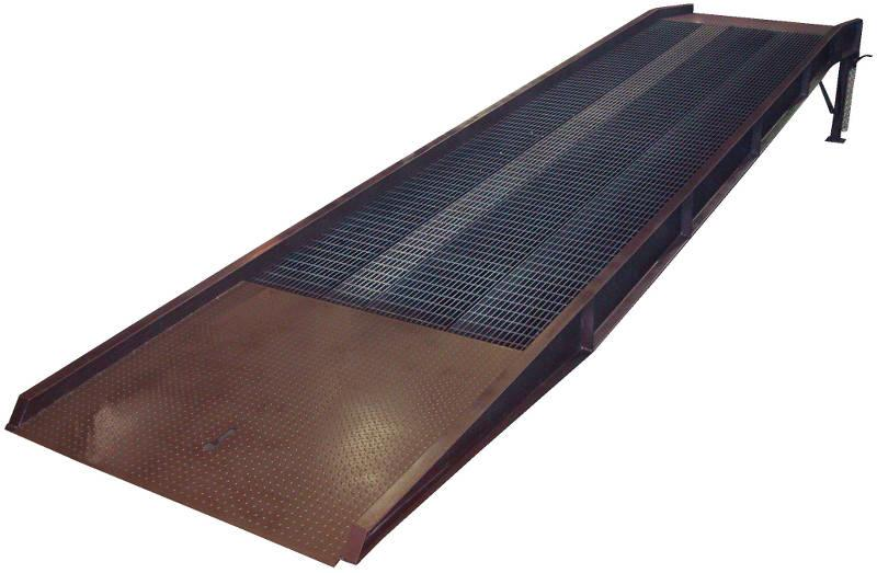Vestil Portable Steel Yard Ramps with Hand Pump Hydraulic Edge-O-Dock