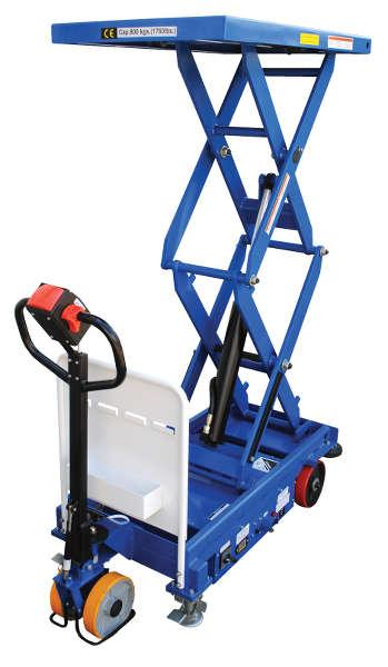 Vestil Powered Drive and Powered Lift Hydraulic Scissor Cart Model No. CART-1000D-DC-CTD