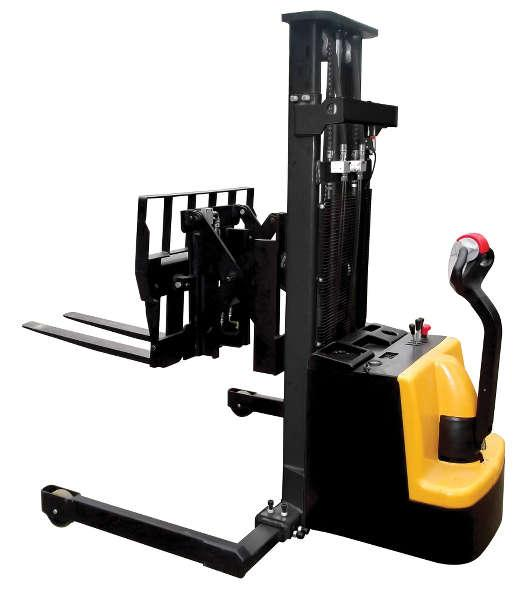 Vestil Powered Stacker with Power Drive Power Lift and Power Fork Reach Model No. S-118-AA-FR
