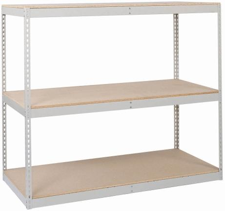 Lyon Pre-Engineered 84 inch High Rivet Rack with Heavy-Duty Beam