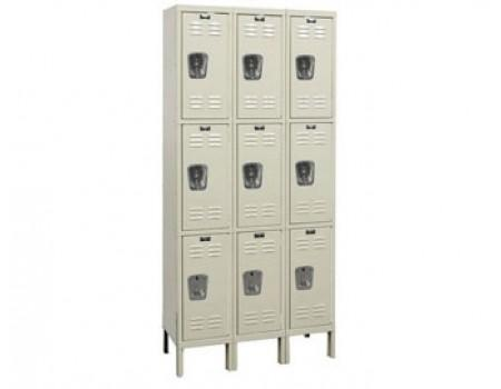 Hallowell Premium Wardrobe Lockers - Triple Tier 3-Wide