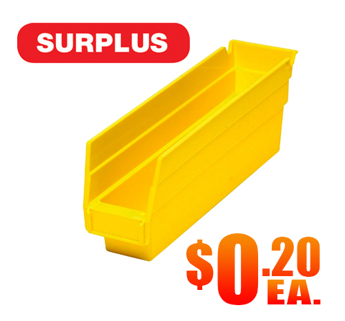 Quantum QSB100 Shelf Bins Yellow Surplus