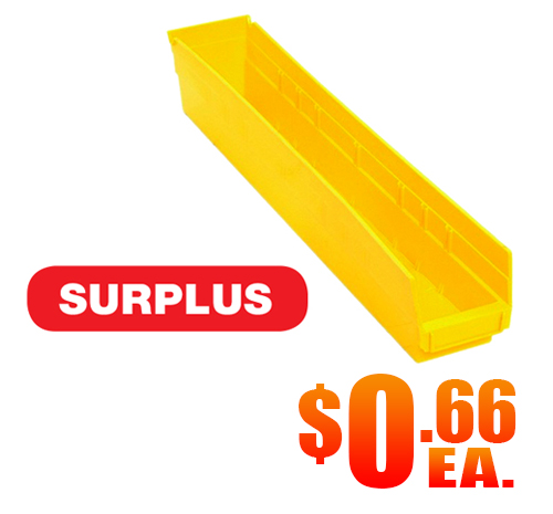 Quantum QSB105 Yellow Shelf Bin Surplus A