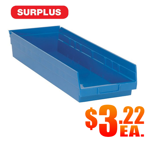 QSB-114 Surplus Blue Shelf Bins A2