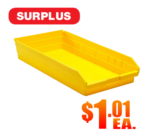 Quantum QSB-116 Yellow Shelf Bins A2