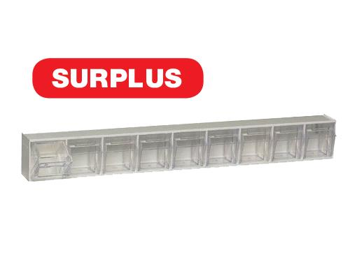 QTB309 White Clear Tip Out Bins - SURPLUS