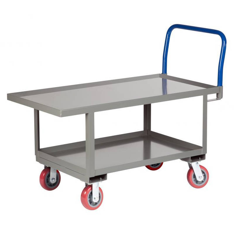 Little Giant Work-Height Platform Truck with Lower Shelf - Lip Edge Deck - Model No. RNL2-3060-6PY