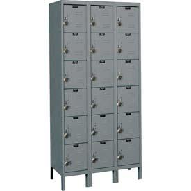 Hallowell Ready-Built Stock Lockers Six Tier 3-Wide