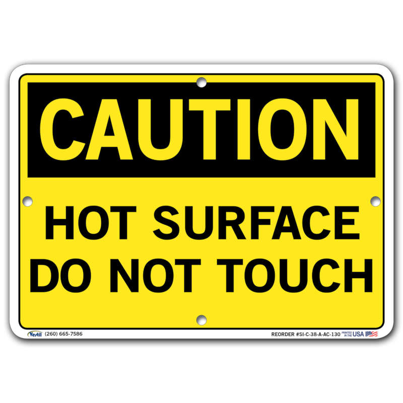 Vestil Caution Hot Surface