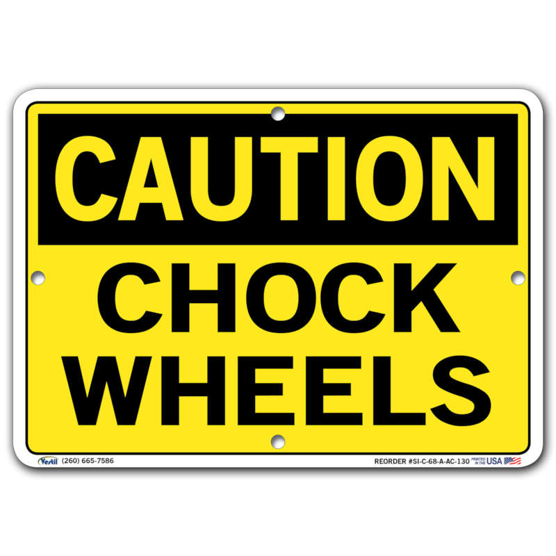 Vestil Caution Chock Wheels
