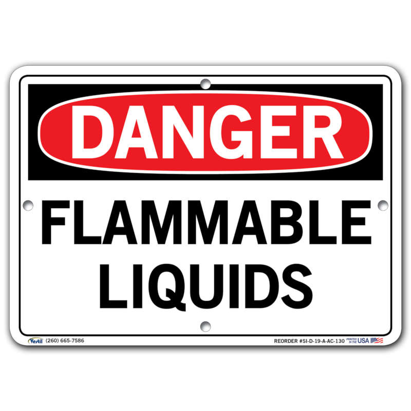 Vestil Danger Flammable Liquids