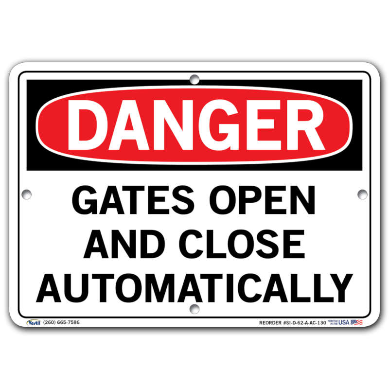 Vestil Danger Gates Open and Close Automatically