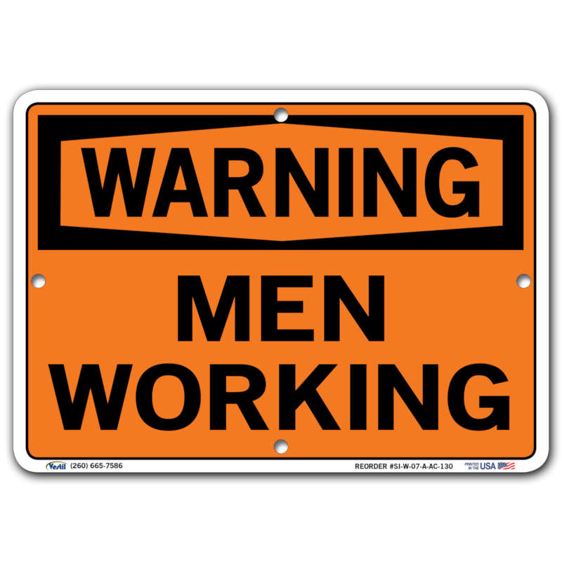 Vestil Warning Men Working