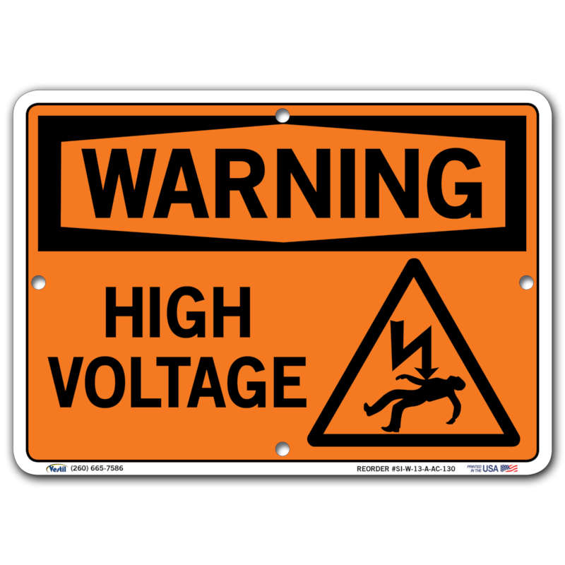 Vestil Warning High Voltage