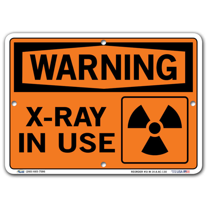 Vestil Warning X-Ray In Use