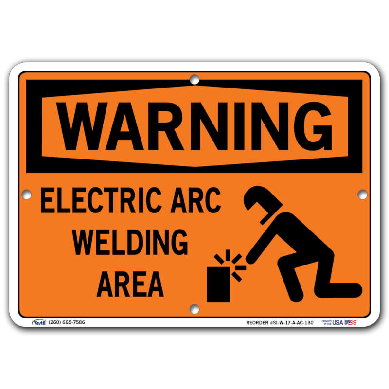 Vestil Warning Electric Arc Welding Area