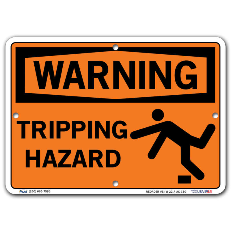 Vestil Warning Tripping Hazard