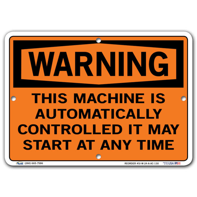 Vestil Warning This Machine Is Automatically Controlled