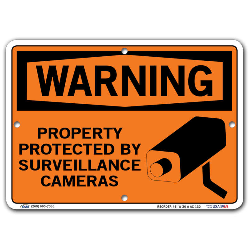 Vestil Warning Property Protected By Surveillance Cameras
