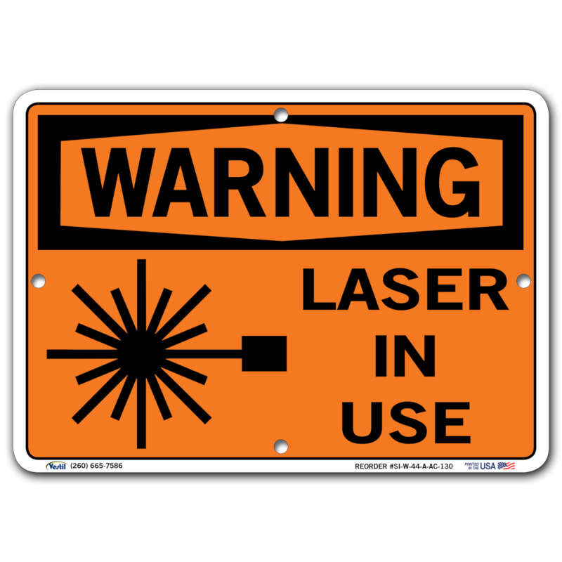 Vestil Warning Laser In Use