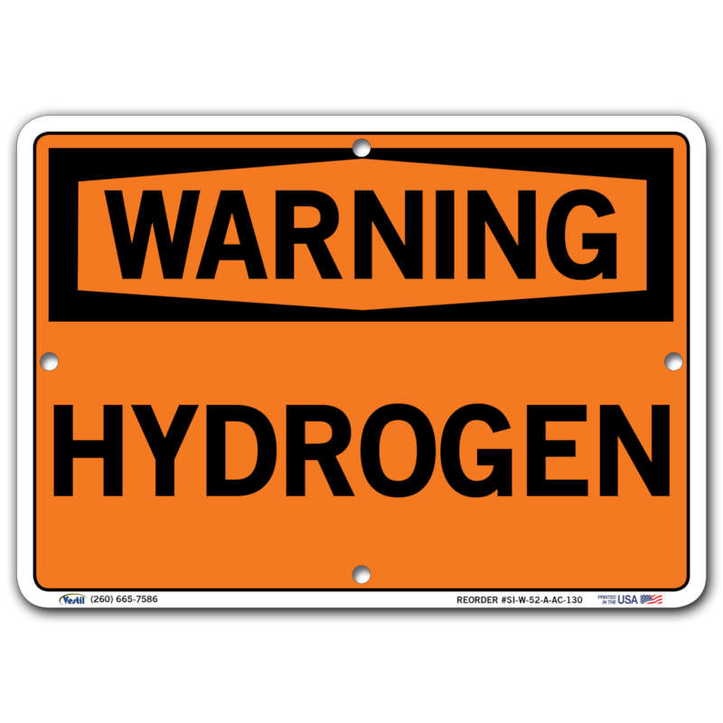 Vestil Warning Hydrogen