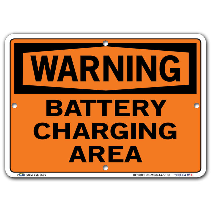Vestil Warning Battery Charging Area