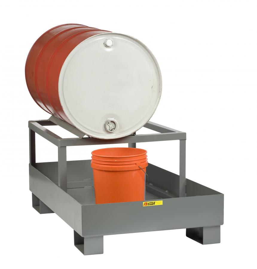 Little Giant SST-5125-1D Spill Control Platform with Drum Rack