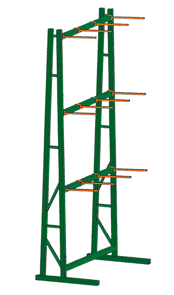 Stromberg Single Sided Vertical Storage Racks