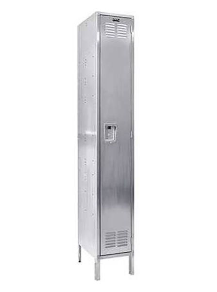 Hallowell Stainless Steel Lockers Single Tier 1 Wide