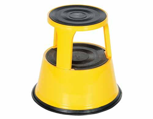 Vestil STEP-17-Y Yellow Rolling Step Stool