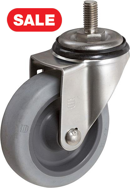 Stromberg STP5100 Light-Medium Stainless Steel Swivel Stem Caster