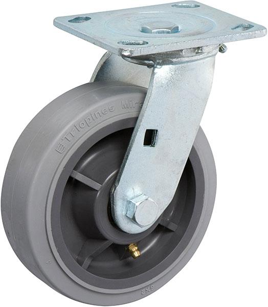Stromberg STP6600 Medium-Heavy Duty Swivel Plate Casters - 6 Inch