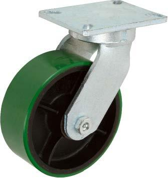 Stromberg STP7500 KPL Series Heavy Duty Kingpinless Rigid Caster (Swivel caster shown. Actual caster is rigid.)
