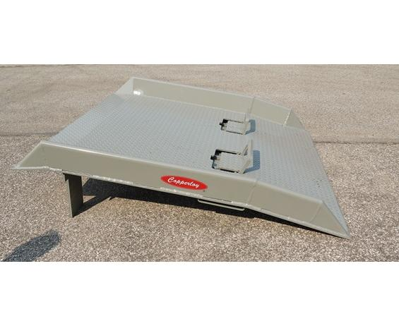 Steel Dockboards with Welded Curbs 30,000 lb Capacity