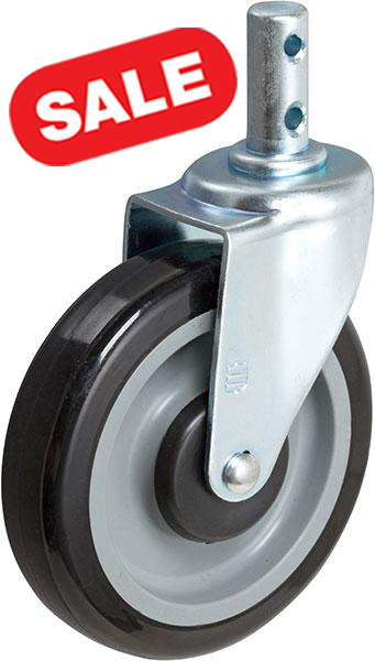 Shopping Cart Rigid Caster with Round Plain Stem